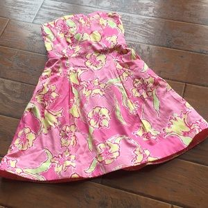 Lilly Pulitzer Strapless Dress - Size 0